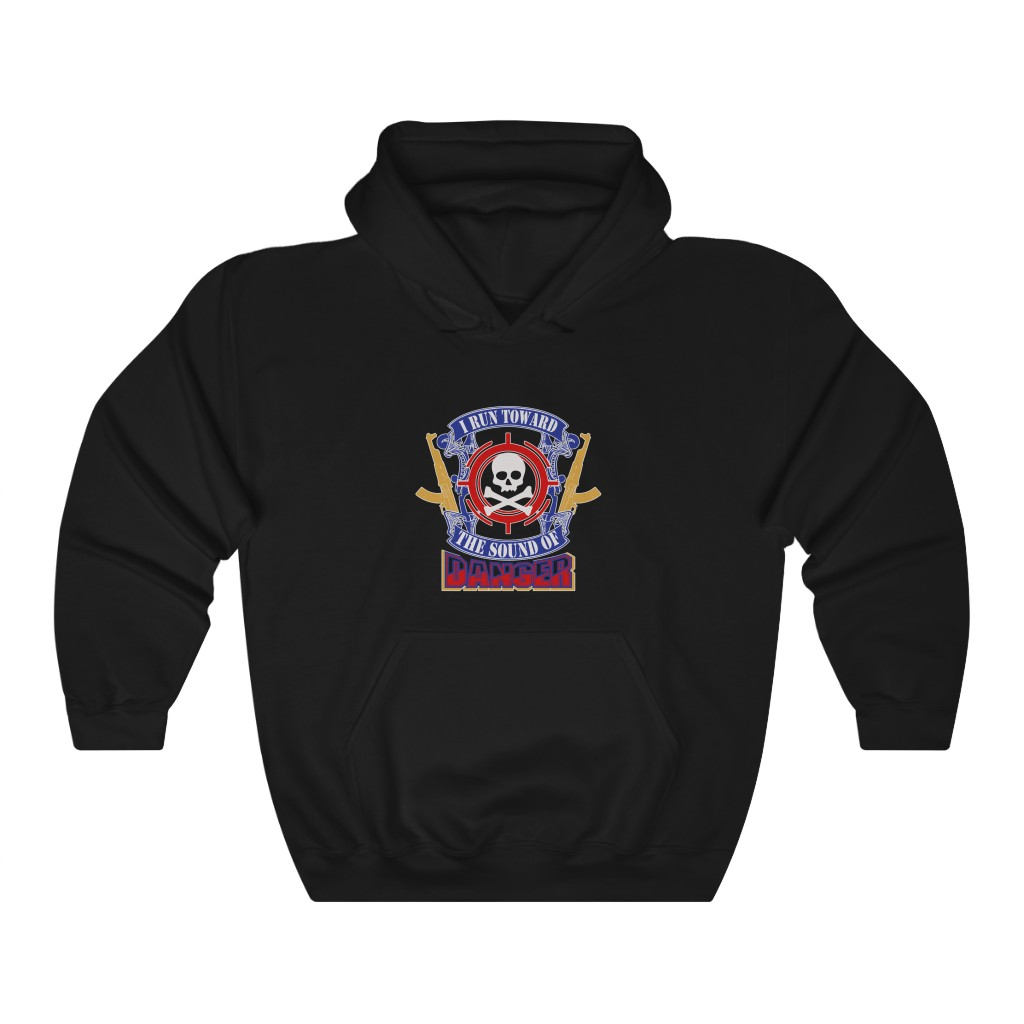 """Run Toward Danger"" Unisex Heavy Blend™ Hooded Sweatshirt"